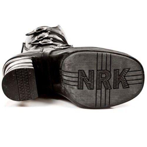 Newrock M. 8373 S1 Nero-New Stivali ROCK Punk Gotico Stivali Nero-New Biker-Donna 1788ae