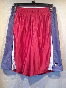 FILA-SPORT-Men-039-s-Red-amp-Grey-Athletic-Shorts-100-Polyester-Size-L