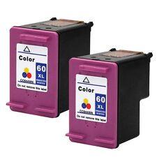 2PKs HP 60XL 60 XL Color Ink Cartridges For DeskJet F2423 F2430 F2492 CC644WN