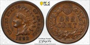 1892-1C-PCGS-AU55-Indian-Cent-Not-labeled-Die-Clash-RicksCafeAmerican-com