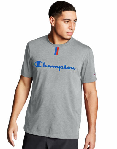 Ed Champion Mens Script T-Shirt Tee Phys YC Double Dry Soft Wicking Modern Fit