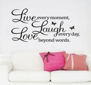 Wall-Stickers-Removable-Art-Vinyl-Quote-Decal-Bedroom-Mural-Home-DIY-Decor-DB