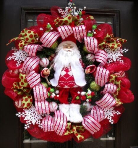 Christmas Wedding Party Art Craft Decorating Poly Mesh Ribbon Metallic Red 30/'