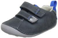 Clarks Infant Kids Uk 2 F Cruiser Time Denim Blue Leather First Shoes