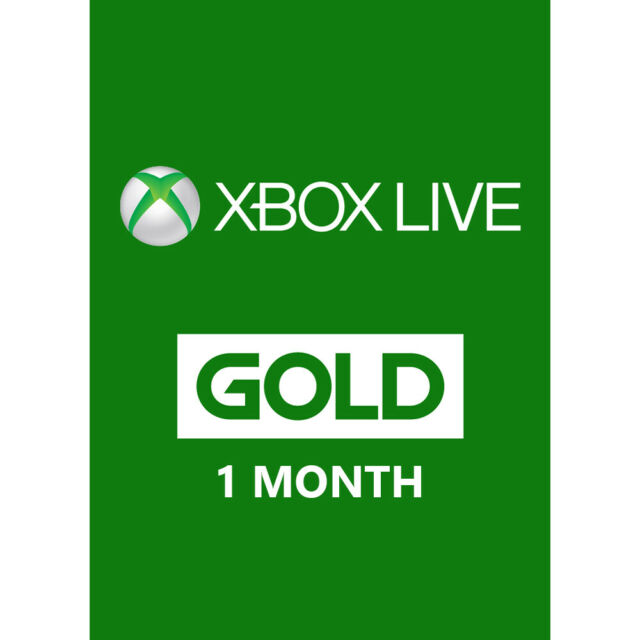 Microsoft 1month360 Xbox Live One Month Gold Membership Voucher Card For Sale Online Ebay