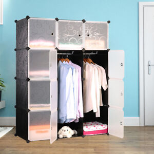 Kleiderschrank-DIY-Schrank-Regalsystem-Schuhschrank-Steckregal-Garderobe-Tueren