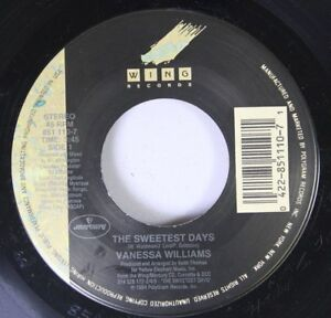 90-039-S-45-Vanessa-Williams-The-Sweetest-Days-Dreamin-039-On-Wing-Records