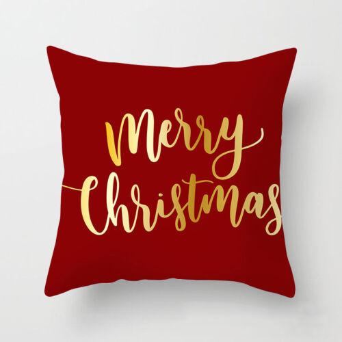 Pillow Christmas Cover Case Xmas Decor Festive Gift Throw Linen Home Car Cushion