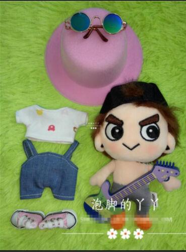 Korea GOT7 Doll/'s Clothing  Hat Pants T shirt Shoe Plush Toy Handmade 15cm