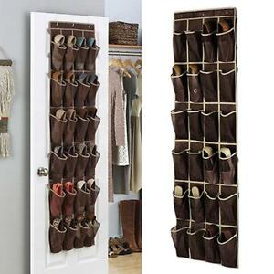 100% Quality 20 Pockets Hanging Shoe Organizer Over The Door Shoe Container Organizer Holder Rack Hanging Foldable Storage Space Saver Home Storage & Organization