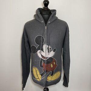 Hanes Disney Parks Mickey Mouse Grey Zip Up Hoodie Hoody Top Men's Large