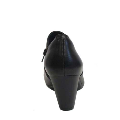 Clarks Femmes garnit Colette en Cuir Noir Pantalon à Talon Chaussure Botte éclair sur l/'intérieur