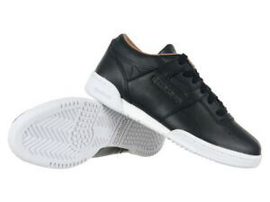 Reebok Classic Workout Low Clean PN Leather Black Trainers Everyday ... 136b6a44d