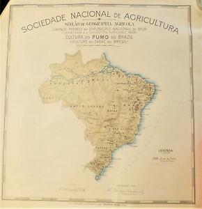 Carte du Brésil en couleur - Sociedade Nacional de Agricultura, 1901 Tabac
