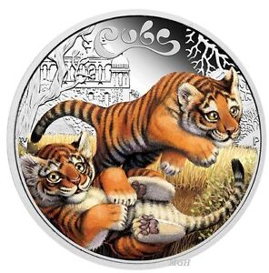 2016-The-Tiger-Cubs-Tuvalu-1-2-oz-Silver-Proof-50c-Half-Dollar-Coin-Colorized