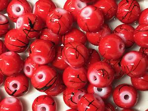 Mocha Glass Drawbench Beads 6mm Jewellery Making 130