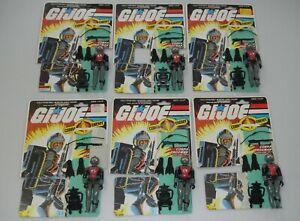 Lot 1985 GI Joe Cobra EELS v1 Figure Set Army Builder File Card Backs Complete