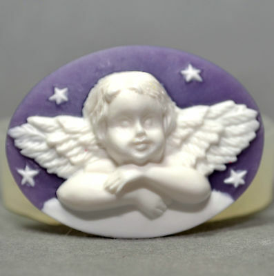 ANGEL CAMEO (02) - silicone mould - food use, resin, fimo, plaster, wax - mold