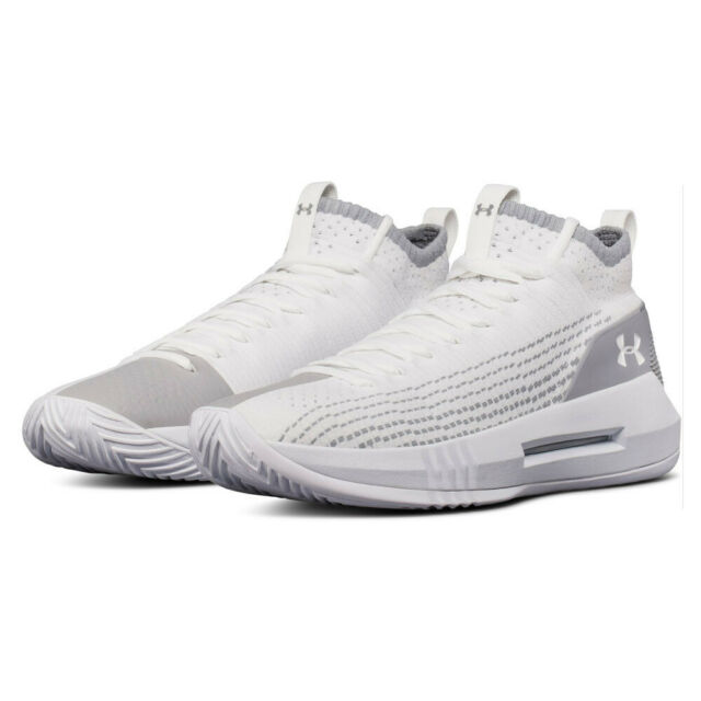 b4d7756467b36d Under Armour Mens Heat Seeker Basketball Shoes White Sports Breathable
