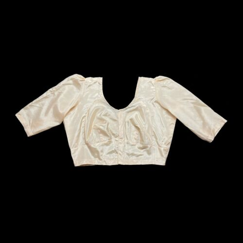 Vintage 40's 50's Rose Gold Silky Satin Crop Top