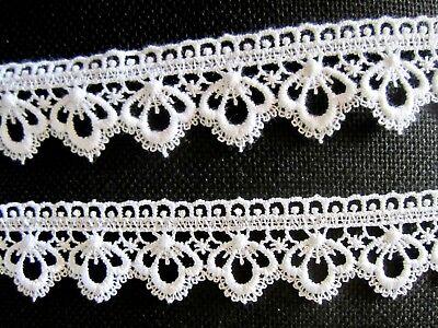 9 Meter Spitzenborte Baumwolle 45mm Weiß  Borte Hochzeitsdeko Kissen Dekorativ