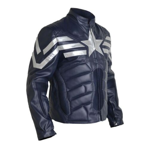 Mens Fashion Jacket Genuine Leather Star Stylish Vintage Motorcycle Racing Wear