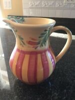 Southern Living At Home Gail Pittman Siena Pitcher Yellow Red Green Retired