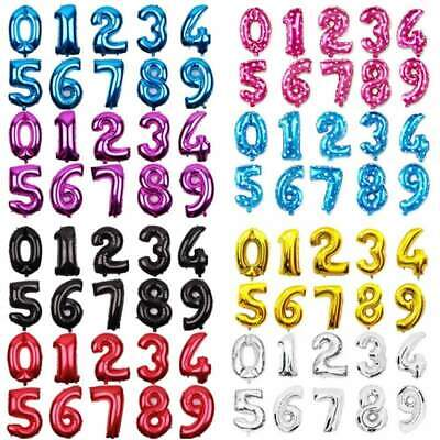 """16/"""" Giant Foil Number Air Only Glitz Large Balloons Birthday Party Wedding all"""