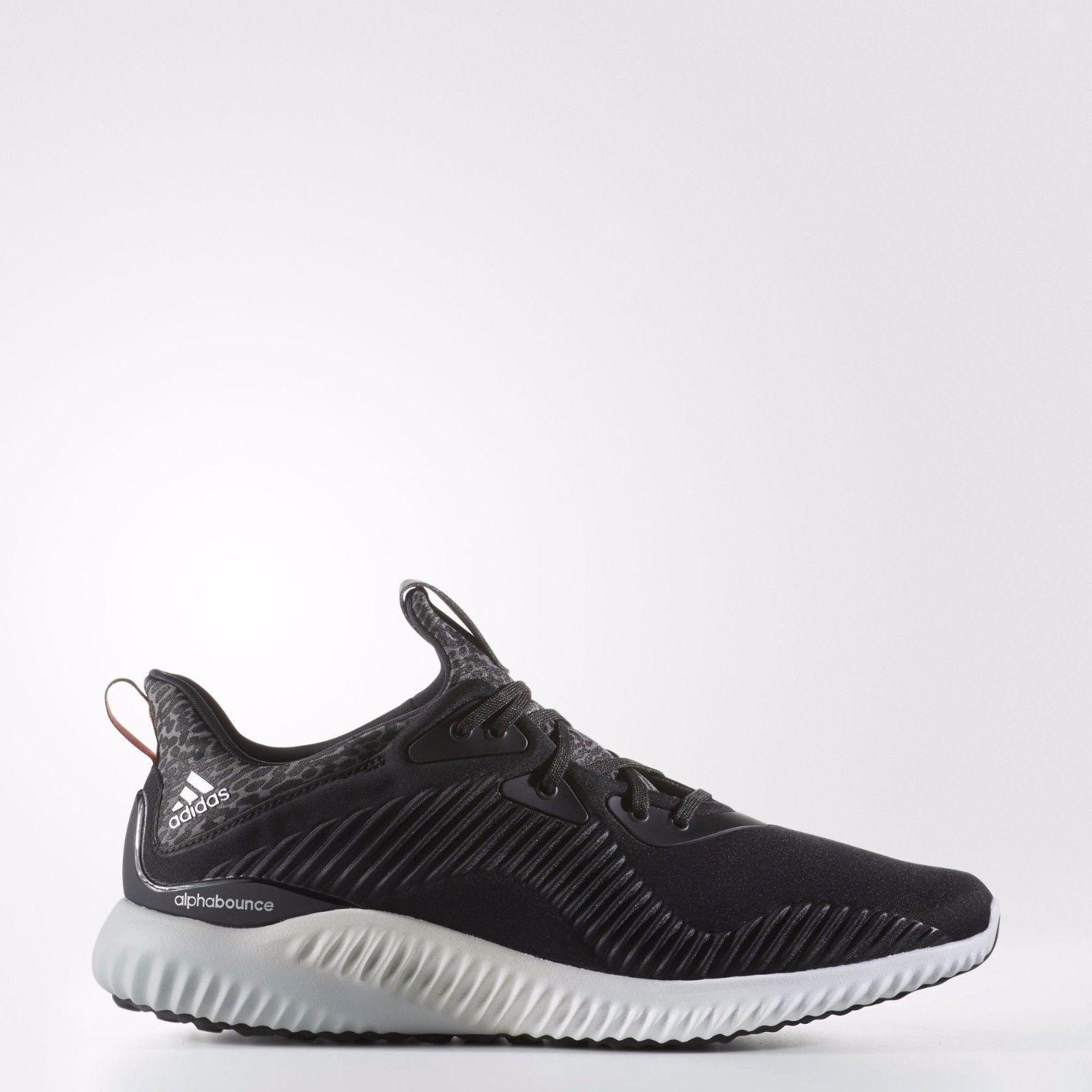 [Adidas] B42744 Sneakers Alpha Bounce Running Shoes Sneakers B42744 Men Women Black 6c95a5