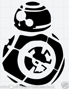 Reusable mylar bb8 star wars stencil template for crafting canvas decor wall art ebay - Pochoir star wars ...