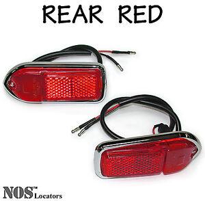 LUCAS Rear Red Side Marker Lamps, MGB 1970-80 & MGB-GT 1970-80