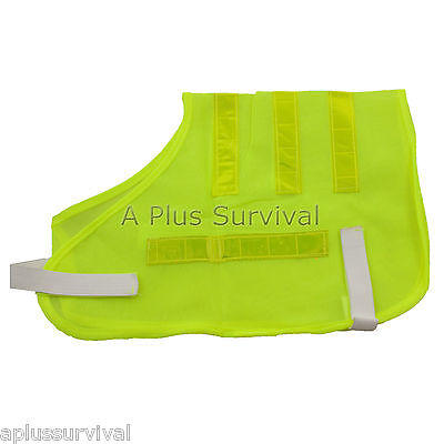 Yellow Pet Safety Vest Fits Most Dogs - Adjustable Running Walking Night Safety
