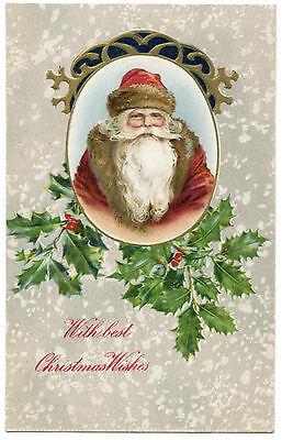 PERE NOEL.SANTA CLAUS. CHRISTMAS. GAUFRé. EMBOSSED.