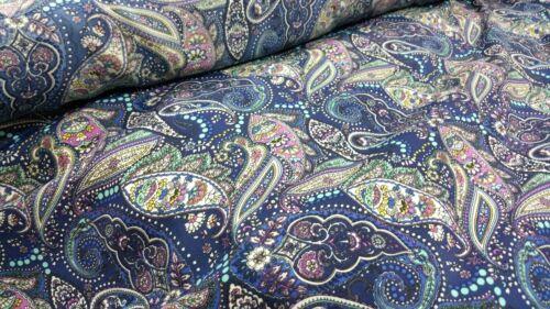 """Indonésien Florenza très Fost tissu belle Multicolore pasiley Print 58/""""w"""