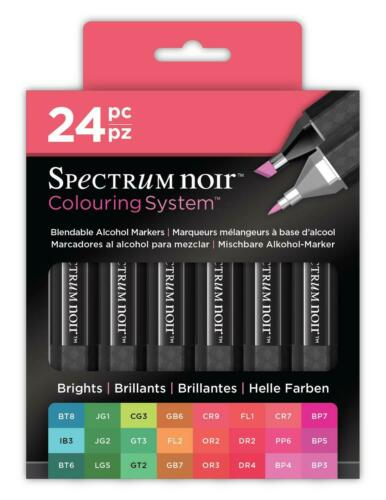 Spectrum Noir 24x Professional Alcohol Based Marker Pens By Crafters Companion
