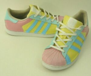 Shoes Custom Paint Pink Yellow Blue