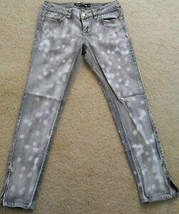 London-bridge-women-skinnt-jeans-size-29-acid-wash-gray