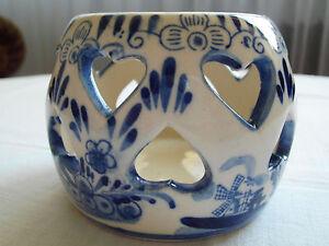 Teelichthalter Keramik blau/weiß - Deutschland - Teelichthalter Keramik blau/weiß - Deutschland
