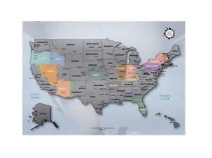 Personalized Scratch-off Us Map the United States of America A4 Size ...