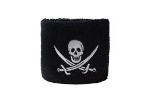 Schweißband drapeau drapeau pirate avec deux épées 7x8cm Bracelet de sport  </span>