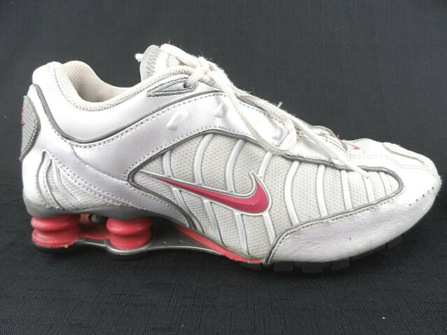 Nike Shox Turbo Running Shoes Womens Size 8 Gray White Pink 316719-102