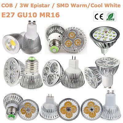 Epistar 9W 12W 15W MR16 GU10 E27 LED Spotlight Lamp Warm Cool White Bulb