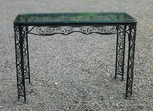 Vintage Woodard Patio Furniture Patterns.Details About Woodard Andalusian Pattern Console Table Vintage Patio
