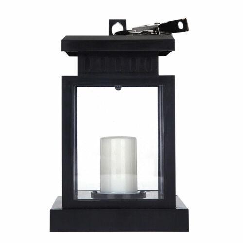 Solar Power Lantern Hanging Light Outdoor Candle LED Lamp For Garden Yard Decor