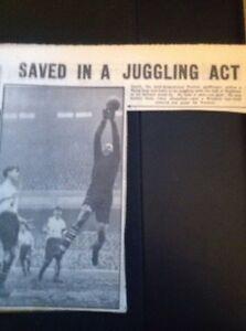 M621-Ephemera-Feb-1952-Preston-Goalkeeper-Gooch-V-Arsenal-Football-Item