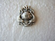 MASTER DIVER QUALIFICATION BADGE MINIATURE DRESS SIZE SILVER OXIDE FINISH