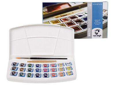 Royal Talens - Van Gogh Watercolour 24 Half Pan Plastic Box Set