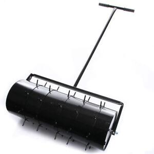 Rasenwalze-80cm-Handwalze-Gartenwalze-Aerator-Rasenroller-Rasenluefter-Walze