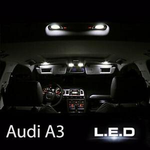 Kit-ampoules-LED-pour-la-lumiere-eclairage-interieur-blanc-AUDI-A3-8P
