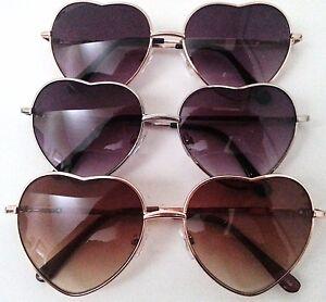 Heart-Shape-Sunglasses-Silver-or-Gold-Metal-Frame